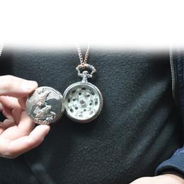 Portable Herb Grinder Australia - Metal Pocket Watch Eagle Pattern Herb Grinder Portable Spice Tobacco Crusher