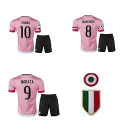 d94d7c87a TOP Wholesale 15 16 retro soccer jerseys rd pink Serie A champions thai  quality custom PIRLO DYBALA 21 football shirts Coppa Italia