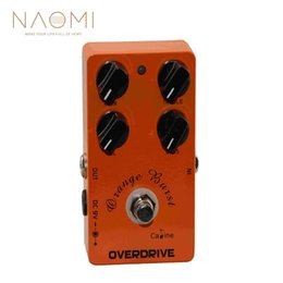 guitar pedal caline NZ - NAOMI Caline CP-18 OD Guitar Pedal Overdrive Guitar Effect Pedal True Bypass Orange Burst CP18 Caline Guitar Amplifier