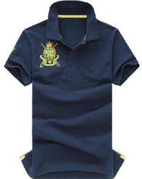$enCountryForm.capitalKeyWord NZ - Factory America Fashion Men Polo Shirts Big Pony Short Sleeve Cotton Solid Polos Classic Sports Shirt Tops Yellow White Blue S-XXL