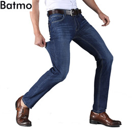 lightweight jeans men Canada - Batmo 2018 new arrival summer Lightweight cotton smart casual jeans men,men's straight classic jeans plus-size 28-40 1218