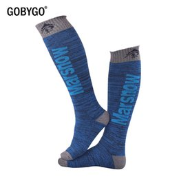 warmest thermal socks UK - GOBYGO Winter Warm Children Men Women Thermal Ski Socks Thick Cotton Sports Snowboard Cycling Skiing Socks Leg Warmer Long