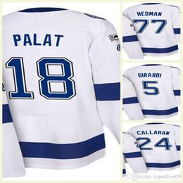 2018 Tampa Bay Lightning Hockey Jersey 9 Johnson Hockey Wear White 14 Chris  Kunitz 5 Dan Girardi Matthew Peca Ondrej Palat Ryan Callahan 115794126