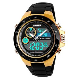 $enCountryForm.capitalKeyWord Australia - 2018 New Hot Popular Brand Luxury Multifunctional Sports Digital Dual Display Alarm Backlight Student Wrist Watch
