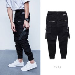 Pants big Pockets online shopping - Fashion Brand Design Cargo Pants Men Leggings Vinatge High Street Slim Fit Draped With Big Pocket Pants