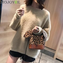 Michael Kors Handbags NZ - Fashion Women Messenger Bag 2018 Animal Print Bowknot Phone Bag Casual Shoulder Bucket Bags Leopard Printing Handbag Bolso Mujer