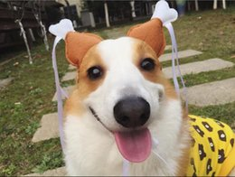 Cat Hat Ornaments Australia - 2018 New Pet Accessories Cap Cosplay Costume for Puppy Cats Dogs Cute Funny Chicken Leg Hair Loop Head Wear Pet Hat Lovely Cat Toys S M