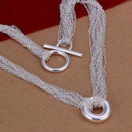 925 silver mesh chain NZ - BN003 Promotion! 925 sterling silver necklace hot sale factory price wholesale , fashion jewelry Mesh Shape O Necklace