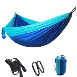 Wholesale Outdoor Camping Hammock Parachute Portable Double Hammock Home Sleeping Mat For Outdoor Garden Travel Beach Hiking Hanging Bed