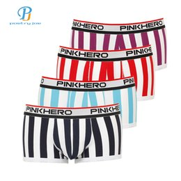 d9c0f8e826 Pink Heroes 4pcs lot Men Underwear Boxers Sexy Striped Cotton Men Boxer  Underwear Brand Panties Shorts Homme Underpants