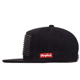 04962fdead0 Fashion Cap Men Black Stereoscopic Offset Press Plate Cotton Hat Rap Hip  Hop Amoeba Pattern Flat Edge Running Snapback 9 5gs hh