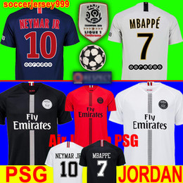 efa814ce3 Thailand maillots PSG soccer jersey 2019 Paris third champions jumpman  MBAPPE CAVANI saint germain 18 19 Survetement football shirt uniforms