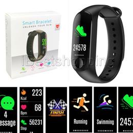 China M3 Fitness Smart Bracelet Bluetooth antenna IP67 waterproof Heart Rate Monitor Blood pressure sensor Wristbands Detachable suppliers