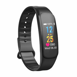 Bluetooth C1 Color LCD Smart bracelet Blood Pressure Oxygen Heart Rate Monitor Fitness Tracker Sport Smart Wristbands from spy android suppliers