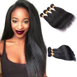 $enCountryForm.capitalKeyWord UK - Brazilian Straight Virgin Hair 3 Bundles 7A Grade Unprocessed Straight Human Hair Extension Straight Hair Weave Natural Black
