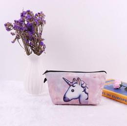 $enCountryForm.capitalKeyWord Canada - Canvas Rainbow Cosmetic Bag Unicorn Cartoon 3D Printing Cosmetic Bags Ladies Waterproof Soft Small Cosmetic Bags