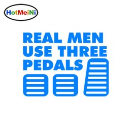 used green cars Canada - Wholesale Car Styling Real Men Use Three Pedals Vinyl Sticker Decal Diesel Turbo Car Stickers Decals Decoration