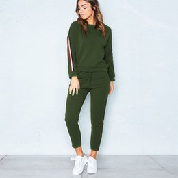 Army Women Costumes NZ - Women's Tracksuit Casual Costumes For Women Autumn Winter Home Clothing Sweatshirt Pant Suit Two Piece Set Sportswear