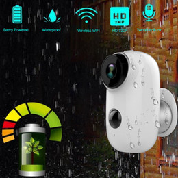 wide view security cameras Australia - 100% Wire-Free Rechargeable Battery IP Wifi Camera 720P Outdoor Indoor Weatherproof IP65 CCTV Security Camera Wide View