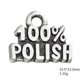 $enCountryForm.capitalKeyWord Australia - Silver Plated 100% Polish words message charms Fit For DIY Bracelets & Necklace Making Jewelry Findings
