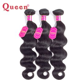 human hair weave remy queen 2019 - Queen Hair Products Brazilian Body Wave Human Hair Extensions IPC 100% Remy Weave Bundles Buy 3 or 4 Bundles for one Hea