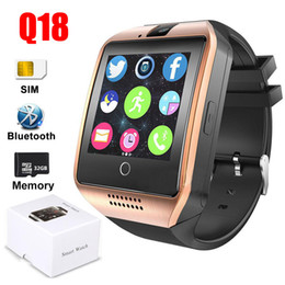 $enCountryForm.capitalKeyWord Canada - Q18 Smart Watch Bluetooth Smartwatch Phone Reminder SIM TF Card Smart Camera Pedometer waterproof camera Bracelet Wristband For Android DHL