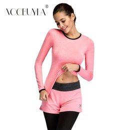 d97a72dfa84 Voobuyla Women Running Set Gym Fitness Clothes Shirt+Pants Quick Dry Yoga  Tight Jogging Workout Leggings Sport Suit Plus size