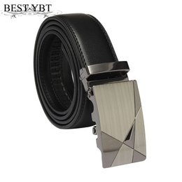 $enCountryForm.capitalKeyWord Canada - Best YBT Men boutique Belt Luxury Black Leather Automatic buckle PU skin Men Belt Men triangle patter business Casual trend Belt