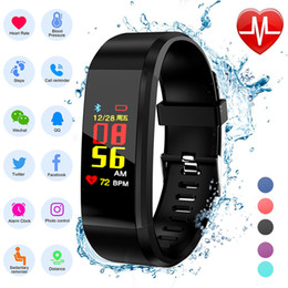 Heart Rate Glasses Australia - ZLIMSN Smart Bracelet LED Screen Blood Pressure Fitness Tracker Step Counter Heart Rate Monitor Band Sport For Android IOS