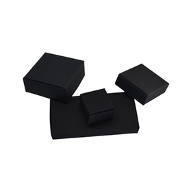 $enCountryForm.capitalKeyWord UK - 50 Pieces Black Kraft Paper Christmas Gift Packaging Boxes Cardboard Packing Box for DIY Craft Jewelry Handmade Soap Package Box