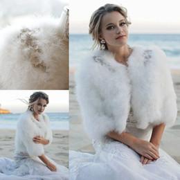 $enCountryForm.capitalKeyWord Australia - Wedding Wraps Faux Fur Warm Short Winter Clocks Beads Mantles Wedding Evening Partys Prom Jackets Coats Winter Shawl