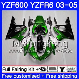Yzf r6 fairing green online shopping - Body For YAMAHA YZF Green black frame YZF R6 YZF R6 Bodywork HM YZF R YZF600 YZFR6 Fairings Kit