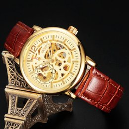 $enCountryForm.capitalKeyWord Australia - SEWOR Brand Luxury Design Business Leather Skeleton Mechanical Watch Men Famous Luxury Watch Band Analog Wristwatch SWQ32PU