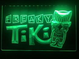 Vente en gros S092b- La bière de pub de masque de barre de Tiki Freaky a mené le signe léger
