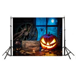 Halloween pHotograpHy backdrops online shopping - MINIFOCUS x5ft photography backdrop background Halloween night banner pumpkins newborn baby shower props photo studio booth