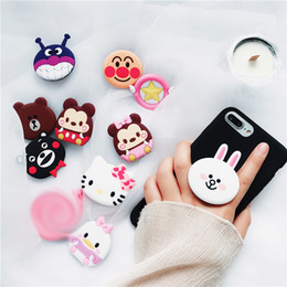 Wholesale For iPhone Cute hello kitty bear cony Phone Expanding Stand Finger Holder For Samsung Xiaomi Mobile Smartphone Stand Holder