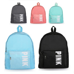 b5c77532a80e Pink Letter Backpack Oxford Shoulder Bag Girls boys Students Fashion Large  Capacity School Book Bags Outdoor Travel adult Bags Rucksack sale