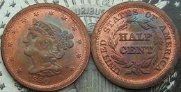 Discount folk hair - USA 1840-1857 Braided Hair Half Cent copy coins commemorative Free Shipping