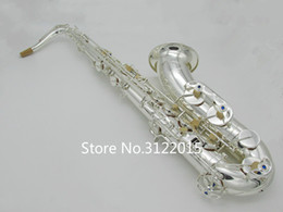 Silver tenor Saxophone online shopping - Professional High Quality YANAGISAWA TWO20 Bb Tenor Saxophone Music Instrument Brass Silver Plated Sax With Case Mouthpiece