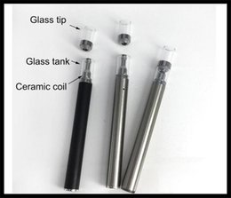 Disposable electronic mini cigarette online shopping - V6 vaporizer pen mini electronic cigarette thick oil vaporizer tank ceramic coil glass tip co2 oil cartridge all in one disposable style