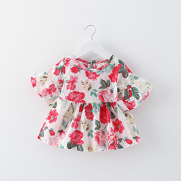 $enCountryForm.capitalKeyWord NZ - 2018 new style kids girl summer dresses clothes BOUTIQUES Girls flying short sleeves dress baby girl peacock hair printed skirt
