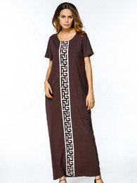 Wholesale long summer dresses sale resale online - maxi dress summer short sleeve long Dress for Women Muslim Dubai ladies casual clothing high quality robes on sale