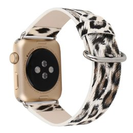 Wholesale Leopard Leather Band Women Sexy Luxury Wrist Bracelet Floral Prints iwatch Strap Belt