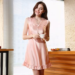 77b379b9d4 Women Spinning Silk Pajamas Women Spring-Summer Lace Sexy Lingerie Homewear