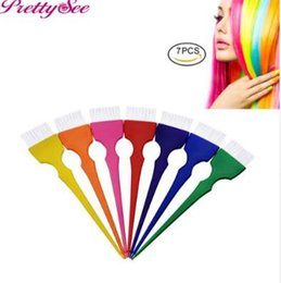 $enCountryForm.capitalKeyWord NZ - PRETTYSEE 7 Pcs Salon Comb Hair Brush Set Dyeing Hair Coloring Brush For Hair Styling Accessories Dye Applicator