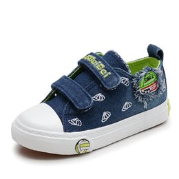 High quality cool Jean patch baby casual shoes 2018 fashion sports casual  baby sneakers Cow muscle Lovely boys girls shoes 0910b802c