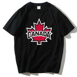 Chinese  Canada 2017 New Fashion Tee shirts Cotton Short Sleeve Tshirts Canadian Maple Leaf Summer Style Fitness Tshirts manufacturers