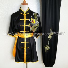 Chinese Suits For Girls Canada - Chinese kungfu clothing wushu uniform taichi garment Routine performance suit nanquan exercise outfit for boy men children women girl kids