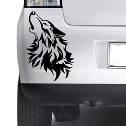 China Car styling for Wolf Bumper Vinyl Sticker Window Laptop Car Truck 4x4 Jeep Decal Vinyl Xbox JDM supplier trucks rear window decals suppliers