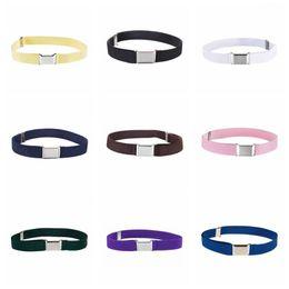$enCountryForm.capitalKeyWord NZ - fashion belts Both men and women Elastic Band Monochrome Trousers Buckle Belt Adjustable Elastic Child Buckle belt
